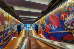 Free FC Barcelona Tunnel Royalty Free Stock Photography - 51430817
