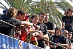 FC Barcelona - UEFA Champions League Winner 2011 Stock Photography
