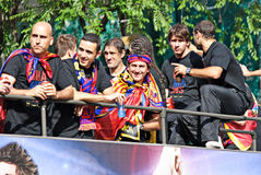 FC Barcelona - UEFA Champions League Winner 2011 Royalty Free Stock Image