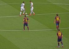 FC Barcelona v Deportivo: Retroceda fora Imagens de Stock