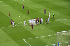 FC Barcelona v Deportivo: Tiro libre Fotografía de archivo libre de regalías