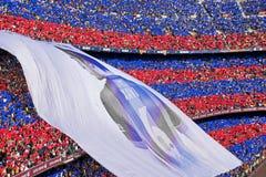 FC Barcelona v Deportivo: Xavi Royalty-vrije Stock Foto's