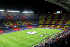 FC BARCELONA. Vs AC MILAN. Champions League match in Camp Nou Stadium Royalty Free Stock Photo