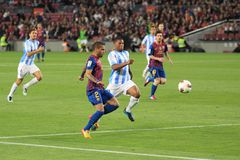 FC Barcelona vs. Malaga CF Royalty Free Stock Photography