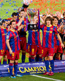 FC Barcelona wins the League Stock Photography