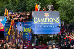 FC Barcelona wins the UEFA Champions League Royalty Free Stock Images