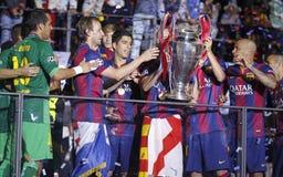 FC Barcelone Arkivbilder