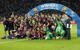 FC Barcelone Arkivfoton