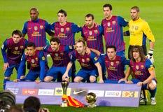 FC Barcelone avec la coupe du monde de club de la FIFA Image libre de droits