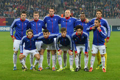 FC Basel line-up Stock Photography