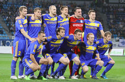 FC BATE Borisov team pose for a group photo Royalty Free Stock Photos