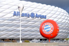 FC Baviera e l'arena dell'Allianz Fotografia Stock Libera da Diritti