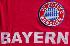 FC Bayern Muenchen. Colorful badge of Football Club FC Bayern Muenchen, Germany Stock Image