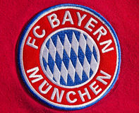 FC Bayern Munich. Colorful badge of Football Club FC Bayern Muenchen, Germany stock images