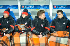 FC Bayern players Royalty Free Stock Photography