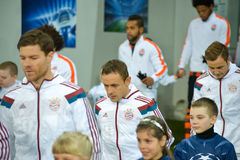 FC Bayern players Royalty Free Stock Photo