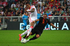 FC Bayerns Luiz Gustavo & Netherlands Wesley Sneij Royalty Free Stock Photo