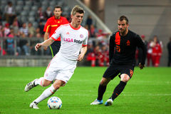 FC Bayerns Toni Kroos & Netherlands van der Vaart Royalty Free Stock Images