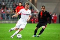 FC Bayerns Toni Kroos & Netherlands van der Vaart Royalty Free Stock Images