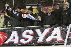 FC Besiktas supporters show their support Stock Image