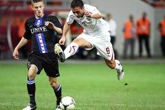 FC Bucarest rápida - FC Heerenveen Imagen de archivo libre de regalías