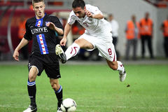 FC Bucarest rapida - FC Heerenveen Immagine Stock Libera da Diritti