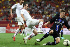 FC Bucarest rapida - FC Heerenveen Fotografie Stock Libere da Diritti