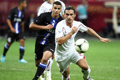 FC Bucarest rapide - FC Heerenveen Image stock