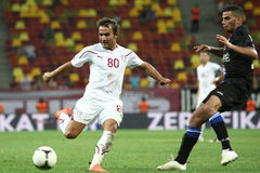 FC Bucarest rapide - FC Heerenveen Photos libres de droits