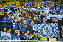 FC Chelsea fans Royalty Free Stock Photo