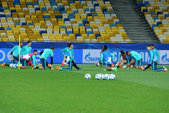 FC Chelsea during open training session Royalty Free Stock Photo