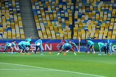 FC Chelsea during open training session Royalty Free Stock Image