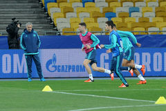 FC Chelsea during open training session Stock Images