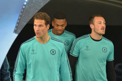 FC Chelsea players Royalty Free Stock Image