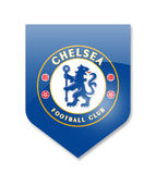 Fc chelsea. Chelsea premier league team on white Royalty Free Stock Image
