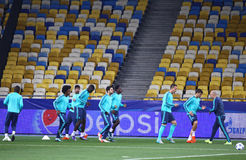 FC Chelsea training session at NSC Olimpiyskyi stadium Royalty Free Stock Images