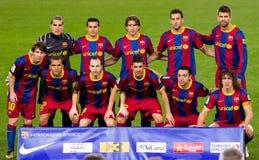 FC de spelers van Barcelona stock fotografie