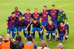 FC de spelers van Barcelona royalty-vrije stock foto