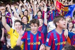 FC de verdedigers van Barcelona Stock Afbeeldingen