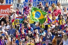 FC de verdedigers van Barcelona Royalty-vrije Stock Fotografie