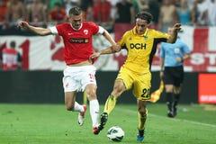 FC Dinamo Boekarest Metalist Harkov Royalty-vrije Stock Foto's