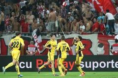 FC Dinamo Bucarest Metalist Harkov Fotografia Stock Libera da Diritti