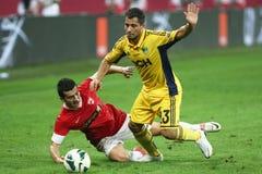FC Dinamo Bucarest Metalist Harkov Fotografie Stock Libere da Diritti