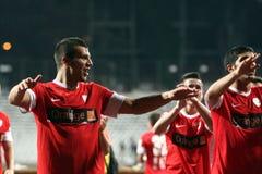 FC Dinamo Bucharest-FC Petrolul Ploiesti Arkivfoton
