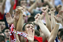 FC Dinamo Bucharest Supporters Royalty Free Stock Photos