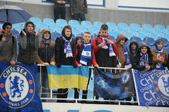 FC Dinamo vs FC Chelsea. U-19 UEFA Champions League Royalty Free Stock Photography