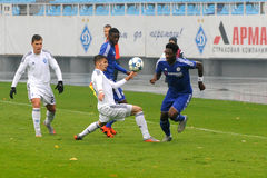 FC Dinamo vs FC Chelsea. U-19 UEFA Champions League Royalty Free Stock Photo