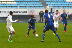 FC Dinamo vs FC Chelsea. U-19 UEFA Champions League Royalty Free Stock Images