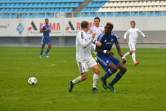 FC Dinamo vs FC Chelsea. U-19 UEFA Champions League. Royalty Free Stock Photo