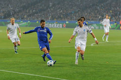 FC Dinamo vs FC Chelsea. UEFA Champions' League Royalty Free Stock Images